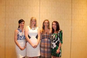 GAAAA members celebrating 10 years of Alpha Delta Pi sisterhood.